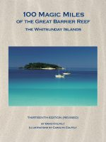 Book Cover: 100 Magic Miles of the Great Barrier Reef – The Whitsunday Islands 13th Edition Revised.